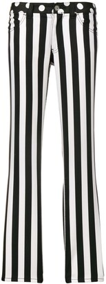 Junya Watanabe Comme Des Garçons Pre Owned Striped And Polka Dot Trousers