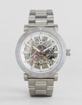 Michael Kors MK9034 Exposed Mechanics Bracelet Watch In Silver