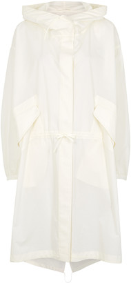 Jil Sander Off-white logo-print cotton-poplin jacket