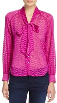 Cooper & Ella Sofia Tie Neck Blouse - 100% Bloomingdale's Exclusive