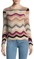 Plenty by Tracy Reese Striped Wave Cotton Sweater
