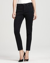 Petites' Cora Ankle Jeggings in Grey/Black Wash