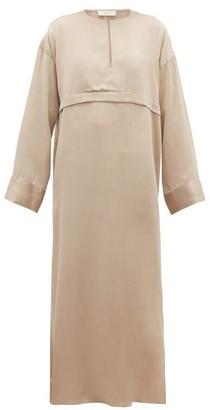 Worme - The Key Maxi Silk Dress - Womens - Gold