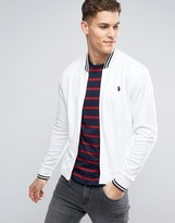 Polo Ralph Lauren Bomber Jacket With Tipped Edging In White