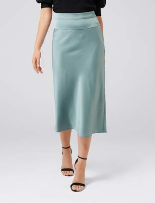 Ever New Livia Petite Satin Slip Skirt