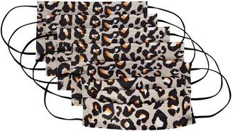 Barrière Leopard Print Disposable Face Mask 5-Pack