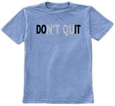 Urban Smalls Heather Blue 'Don't Quit' Crewneck Tee - Toddler & Boys
