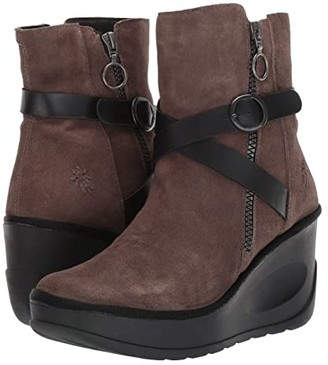 Fly London JASO080FLY (Grey/Black Ranch/Rug) Women's Boots