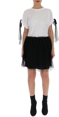 RED Valentino Contrast Tulle T-Shirt Dress