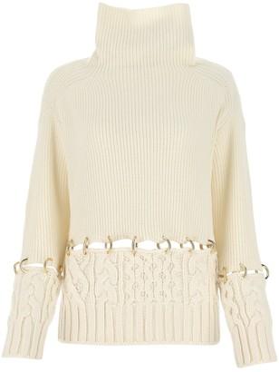 Sacai Ring Embellished Sweater