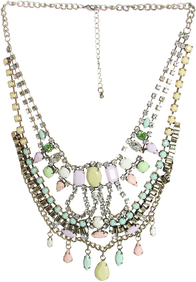 Arden B Pastel Stone Statement Necklace