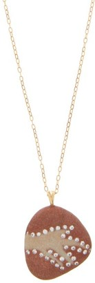 Cvc Stones Pattern Diamond & 18kt Gold Necklace - Multi