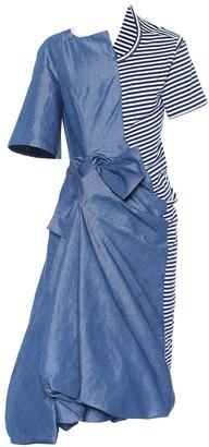 Junya Watanabe Cotton-blend midi dress