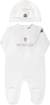 Moncler Ivory Set For Babykids