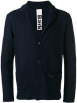 Bark patch pockets knitted blazer