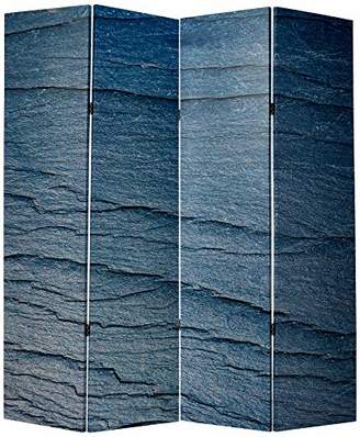 Screen Gems Black Slate 4-panel Room Divider 7ft. Tall