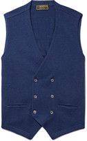 Cordings - Double-breasted Knitted Virgin Wool Waistcoat
