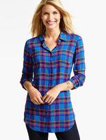 Talbots The Long Drapey Shirt - Fanciful Plaid
