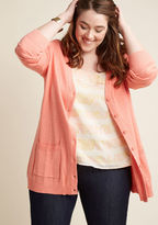 ModCloth Have a Good Knit Cardigan in Carnation in XS