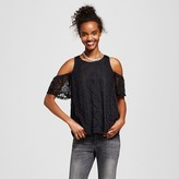 Lily Star Women's Lace Cold Shoulder Top Juniors')