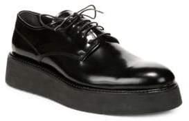 Vince Drystan Leather Platform Shoes