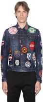 DSQUARED2 Military Glam Patches Denim Jacket
