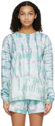 John Elliott Green and Purple Tie-Dye Reconstructed Long Sleeve T-Shirt