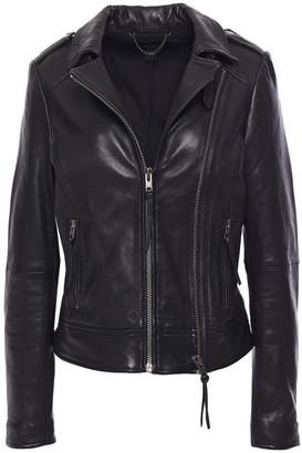 Muu Baa Muubaa Zip-detailed Leather Biker Jacket