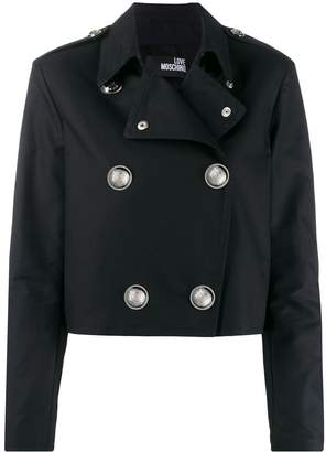 Love Moschino cropped double breasted jacket