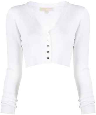 MICHAEL Michael Kors Cropped Ribbed Cardigan