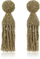 Oscar de la Renta Classic Short Tassel Clip-On Earrings