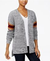 Hippie Rose Juniors' Striped High-Low Cardigan