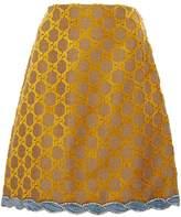 Gucci GG Mini Flare Crystal Trim Skirt