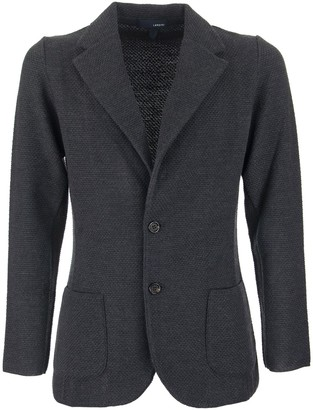 Lardini Single-breasted Merino Wool Knit Jacket