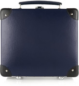 Globe-trotter 9 Leather-trimmed Fiberboard Vanity Case - Navy
