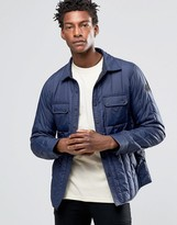 Replay Quilted Nylon Jacket in Navy
