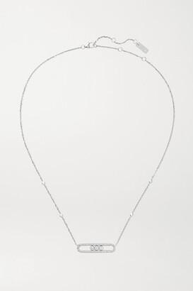 Messika Move 18-karat White Gold Diamond Necklace - one size