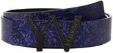 Versace Kids - 'YV' Buckle Belt w/ Barocco Design Boy's Belts