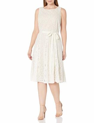 Julian Taylor Women's Plus Size Full Figure Crochet Lace Fit and Flare Dress