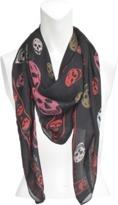 Alexander McQueen Multicolour Skull scarf in silk