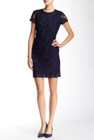 Andrew Marc Chunky Lace Middy Shift Dress