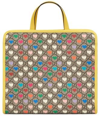Gucci Kids Heart Print Tote Bag