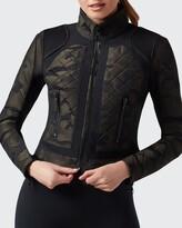 Thumbnail for your product : Blanc Noir Camo Mesh Moto Jacket
