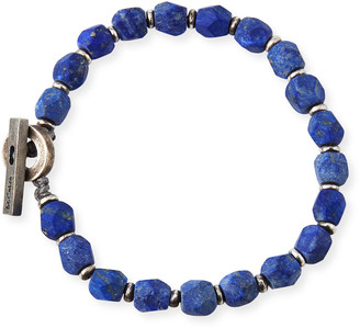 M. Cohen Men's Lapis Axiom Beaded Bracelet, Blue Pattern