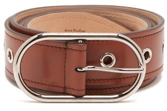 Acne Studios Masculine Large Logo-buckle Leather Belt - Womens - Tan