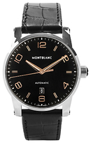 Montblanc 110337 Timewalker Automatic Date Alligator Leather Strap Watch, Black