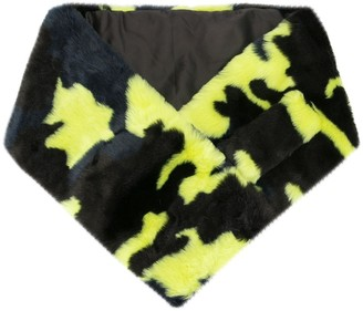 Apparis Anjali camouflage faux-fur scarf