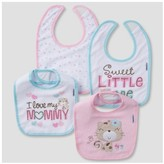 Gerber Baby Girls' 4pk Terry Bib Set Kitty ;