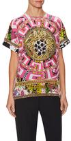 Versace Silk Print Dolman Blouse