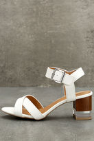 Qupid Blaire White High Heel Sandals